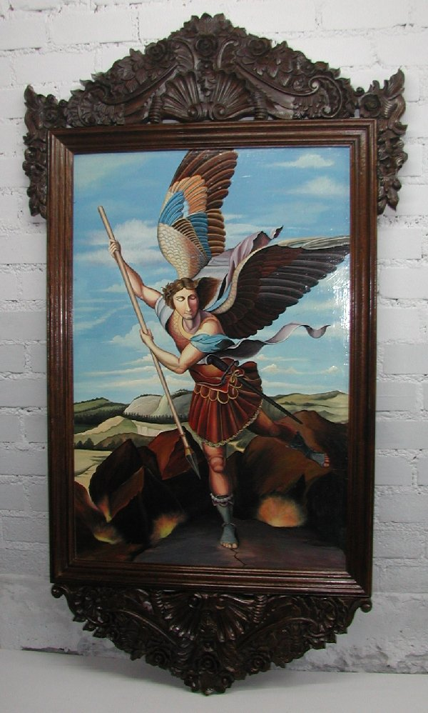 Archangel Michael made in Peru hand painted