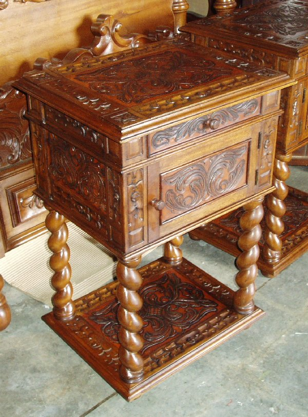 Hand Tooled Leather nightstand