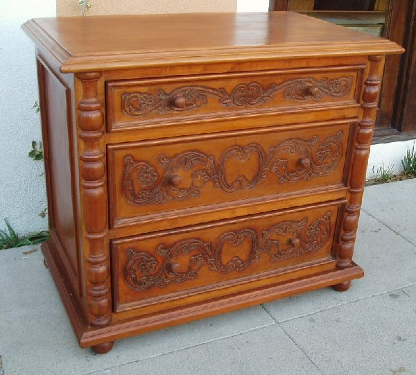 Old World Tuscan night stand