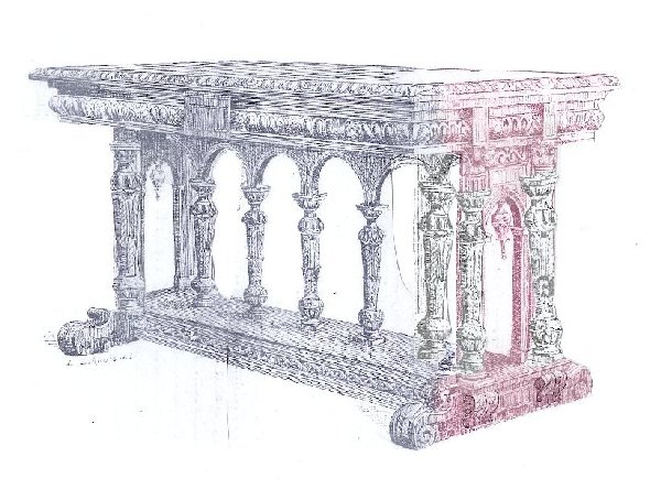 Renaissance Dining Table drawing