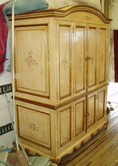 French Country Computer Armoire