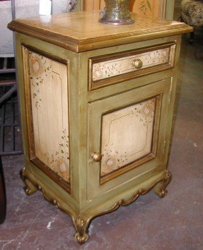 hand painted nightstand in florentino design