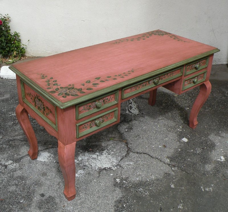 pink french desk