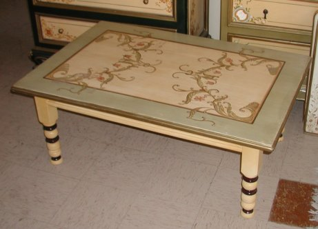 French scroll coffee table