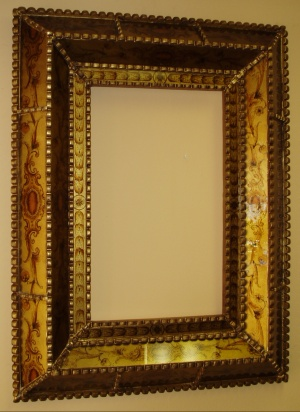 reverse painted glass mirrors, Cuzco style mirror