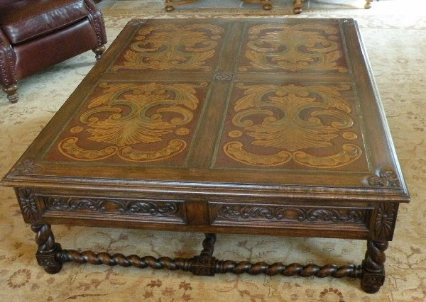 Renaissance Architectural Spanish Coffee Tables Italian Coffee Tables French Coffee Tables