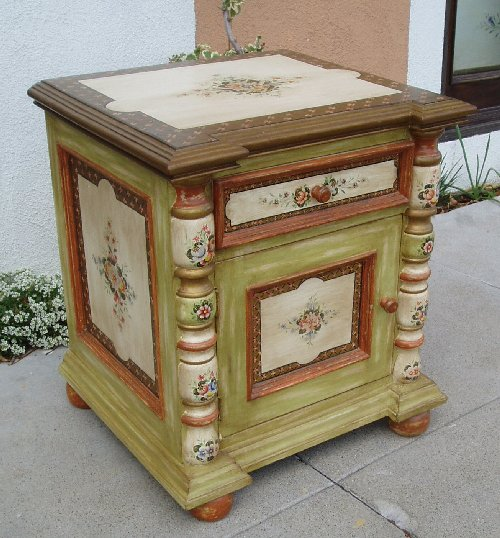 Old Spanish Style furniture, hand painted sevilla nightstand