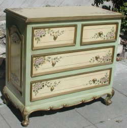 French Country Furniture, purple rose chest