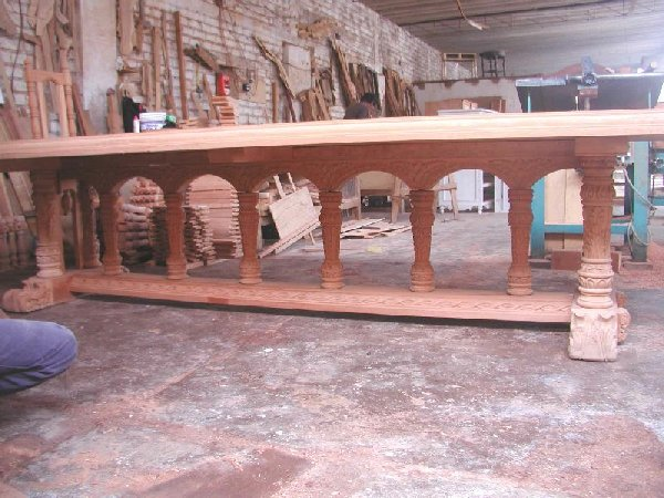 Renaissance Dining Table hand carved wood