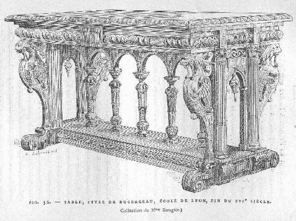Renaissance Dining Table drawing c. 1600
