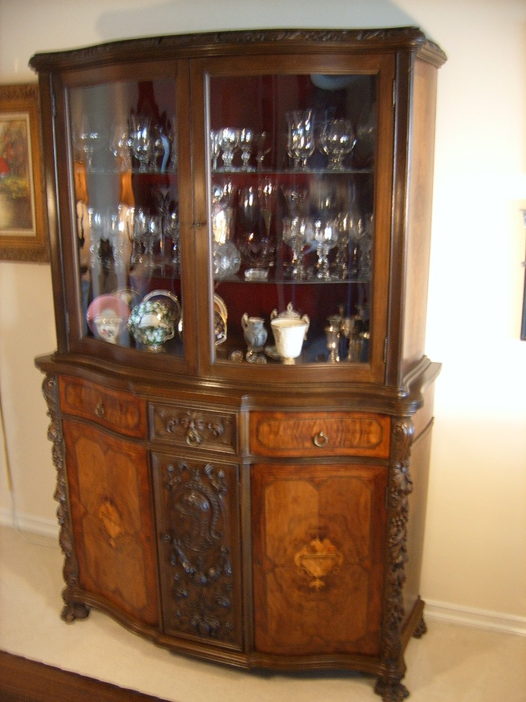 Renaissance Revival Dining Room China Cabinet