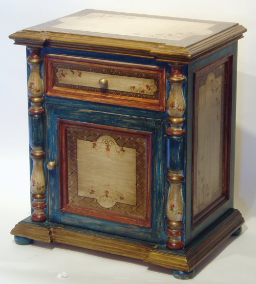 Old Spanish style hand painted sevilla nightstand