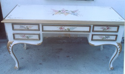 French Country desk, white french desk